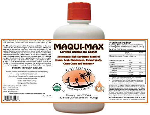 Maqui Max - Organic Maqui Juice Blend from CAOH® (2-32 oz Bottles)
