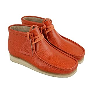 CLARKS - Mens Wallabee Boot Low Boot, Size: 7 D(M) US, Color: Orange Leather (B071ZRLVTC)   Amazon price tracker / tracking, Amazon price history charts, Amazon price watches, Amazon price drop alerts