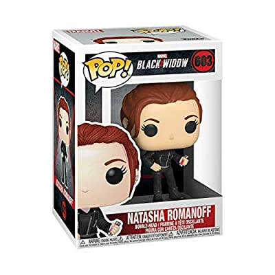 Natasha Romanoff #603 Pop Marvel: Black Widow Vinyl Figure (Bundled with EcoTEK Plastic Protector to Protect Display Box): Toys & Games