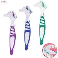 3Pcs Cepillos para Dentadura, AUHOTA Cepillo de Limpieza