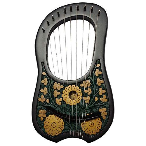HS Lyre Harp 10 Metal String Ins...