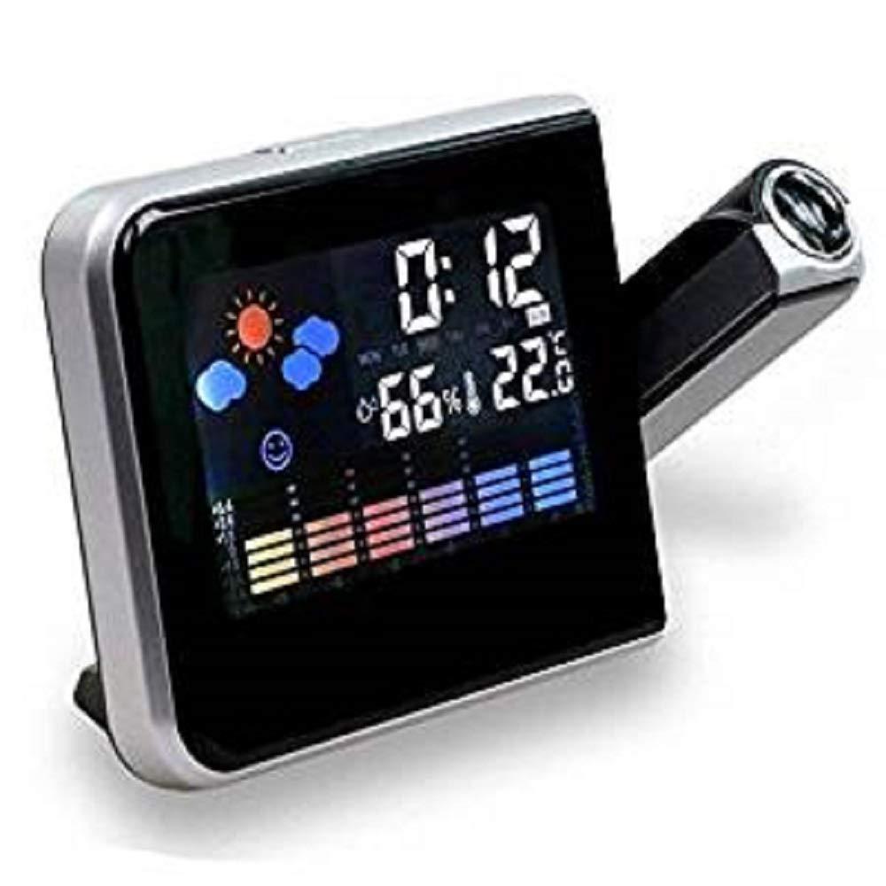 Reloj despertador con pantalla LCD, estación meteorológica y cable USB: Amazon.es: Hogar