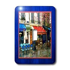 3dRose LLC lsp_14913_1 Paris Cafe Single Toggle Switch