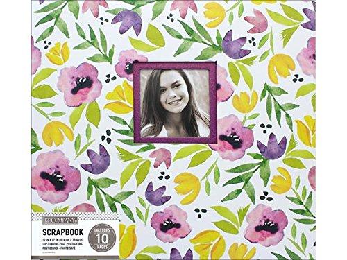 1 K&Co Scrapbook 12x12 Purple Poppies Watercolor Scrapbook 12x12 Purple Poppies ()