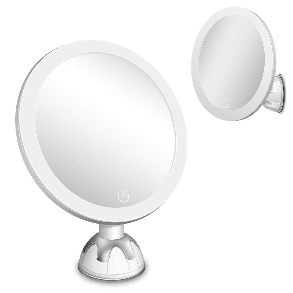 LED Lighted 20X Magnifying Makeup Mirror with Suction Cup, 20 ...