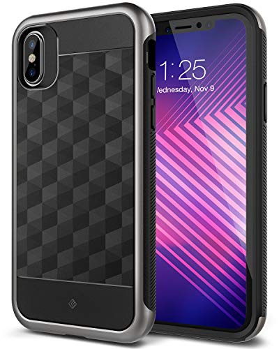 Caseology Parallax for iPhone Xs Case (2018) / iPhone X Case (2017) - Award Winning Design - Black -  CO-IP8-ARM-BKWY