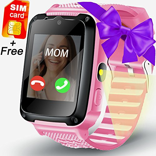 [Speedtalk SIM Included] Kid Smart Watch Tracker Game Watch Phone, ONMet Kid Calling Smartwatch with Camera 1.54''Touch Educational Toys Wrist Watch Summer Outdoor Holiday Gifts Sport Watch by ONMet