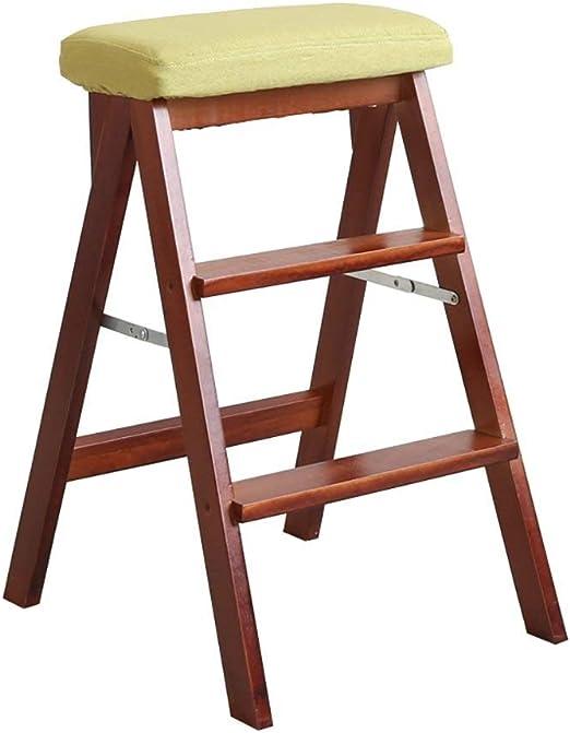 Taburetes escalera Escalera de Paso de Madera Plegable portátil Taburete de Paso Cocina Pie Taburete Trabajo Pesado Carga máxima 100 kg (Color : Z): Amazon.es: Hogar