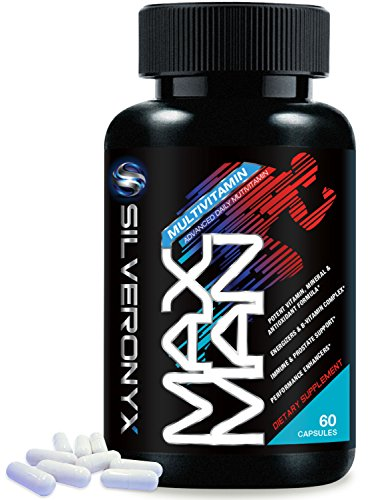 Daily Multivitamin for Men Supplement Max Man Vitamins for Energy, Stress Management, Heart, Prostate, Muscle, and Reproductive Health, with Vitamins A, C, D, E, B12 + Minerals - 60 Capsules