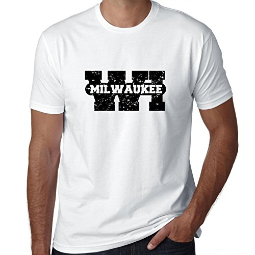 Hollywood Thread Milwaukee, Wisconsin WI Classic City State Sign Men's T-Shirt ()