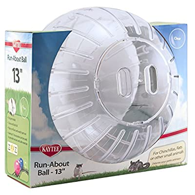 """Kaytee Mega Run-about 13"""" Exercise Ball, Clear by Super Pet"""