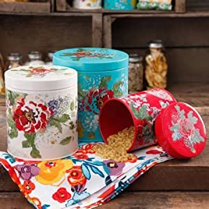 The Pioneer Woman Country Garden 3 Piece Canister Set By The Pioneer Woman Wall Art