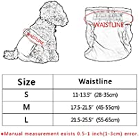 Tie langxian Female Dog Nappies,Dog Nappies for Female,Dog Diapers,Washable Reusable Nappy L, Blue