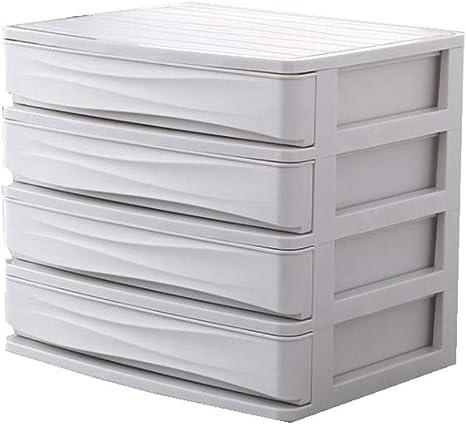 Organizador de Escritorio, 4-Capas Cajón Durable Plástico Mesa de Oficina Escritorio Debris Cosmético Estilo de cajón Titular Caja de Almacenamiento (Color : Blanco): Amazon.es: Electrónica