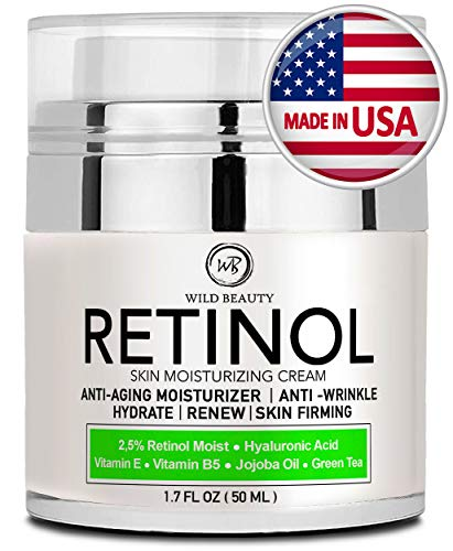 Anti Cream Aging Eye Wrinkle Anti - NEW 2019 Retinol Cream Moisturizer for Face and Eye Area - Made in USA - with Hyaluronic Acid - Active Retinol 2.5% - Anti Wrinkle Cream to Reduce Wrinkles & Fine Lines - Best Day and Night