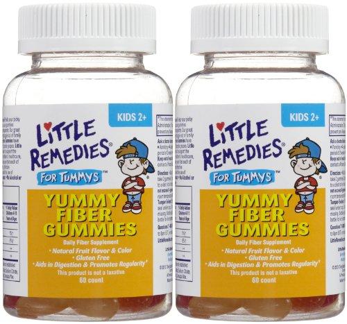 Little Remedies Little Tummys Fiber Gummies - Fruit Flavors - 60 ct - 2 pk