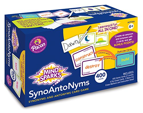 Mind Sparks Synoantonyms Card Game 9366 Learning Game ()