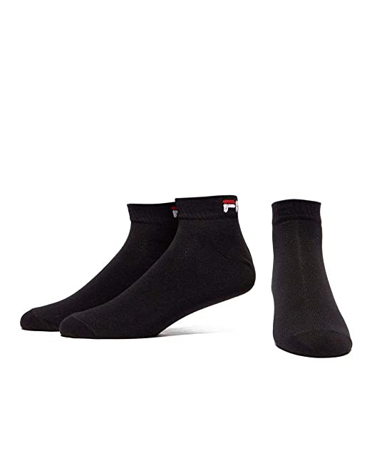 Calcetines deportivos Fila 3 Pack Quarter, Negro, M/L: Amazon.es: Deportes y aire libre