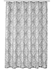 AmazonBasics Mold and Mildew Resistant Shower Curtain with Hooks