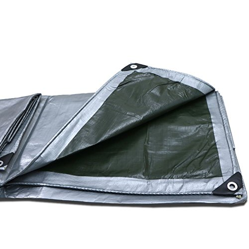 LIANGLIANG Tarpaulin Waterproof Heavy Duty Sheet Shade Balcony Protection Truck Multipurpose Metal Buttonhole Plastic PE, 22 Sizes (Color : Silver, Size : 4.8x2.8m) by LIANGLIANG-pengbu