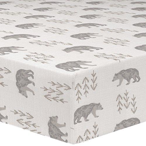 Liz and Roo Cubby Crib Sheet, - Bear Cubby