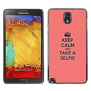GIFT CHOICE / SmartPhone Carcasa Teléfono móvil Funda de protección Duro Caso Case para Samsung Note 3 N9000 /KEEP CALM & SELFIE/