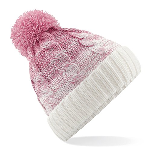Chapeau Bonnet Pompon 60 Second Limited Fourrue Ombre Makeover Épais Tricot Rose xwq8XqH