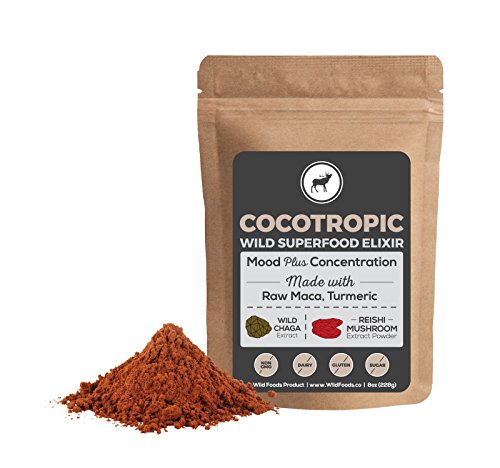 Wild Cocotropic Raw Cacao Drink Elixir with Reishi, Chaga, Raw Maca, Turmeric | Nootropic Hot Cocoa Beverage, Add to Smoothies, Shakes, Coffee (16 ounce) Wild Turkey Turkey Honey