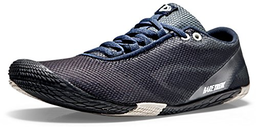 TSLA Men's Trail Running Minimalist Barefoot Shoe, Barefoot(bk30) - Black & Grey, 10
