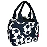 NGIL Insulated Lunch Bag, Soccer Print