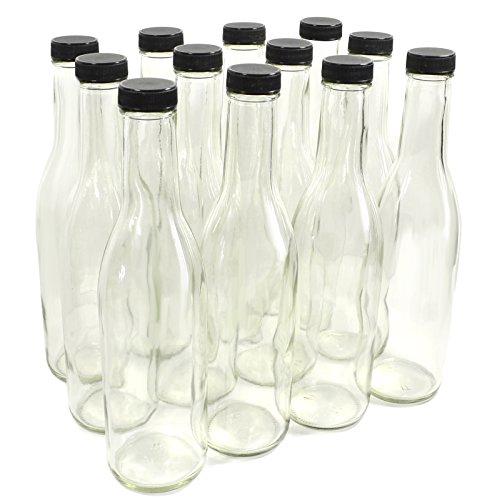 Clear Glass Woozy Bottles, 12 Oz - Case of 12 -