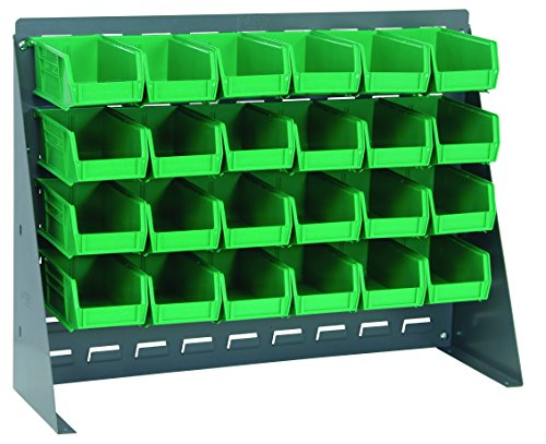 Quantum Storage Systems QBR-2721-220-24GN Ultra Bin Complete Bench Rack Package with 24 Ultra Bins, 27