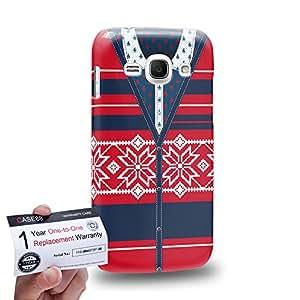Case88 [Samsung Galaxy Ace 3] 3D impresa Carcasa/Funda dura para & Tarjeta de garantía - Art Hand Drawing Red Cardigan