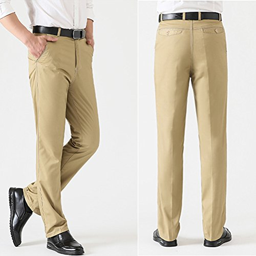 Pants Trousers Dress Office Men Pocket Father Gray for Flat Pants Front Trouser Zhuhaitf Chino Suit Designer Trousers Formal 7yqW5nO