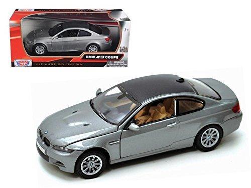 Motormax 73347 BMW M3 E92 Coupe Gray 1/24 Diecast Model Car Coupe Diecast Model Car