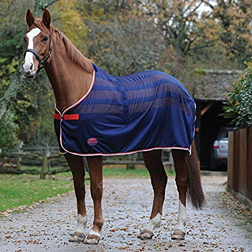 Weatherbeeta Scrim Cooler Standard Neck Blanket (4 ft) (Navy/Red/White)