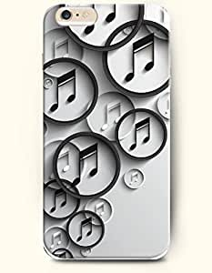SevenArc Phone Case for iPhone 6 Plus 5.5 Inches with the Design of Black and White Music Note