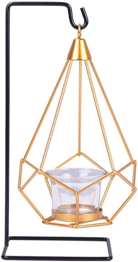 stand with glass Metal flower shaped tea light holder silver color #1