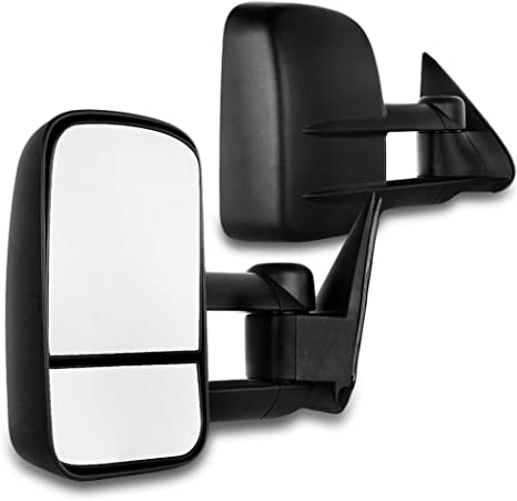 fit Chevy GMC Exterior Accessories Mirrors fit C1500 C2500 C3500 K1500 K2500 K3500 1988-1998 with Convex Glass Manual Controlling and Telescoping Features SCITOO Towing Mirrors