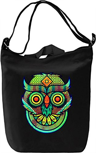 Funky Owl Head Borsa Giornaliera Canvas Canvas Day Bag| 100% Premium Cotton Canvas| DTG Printing|