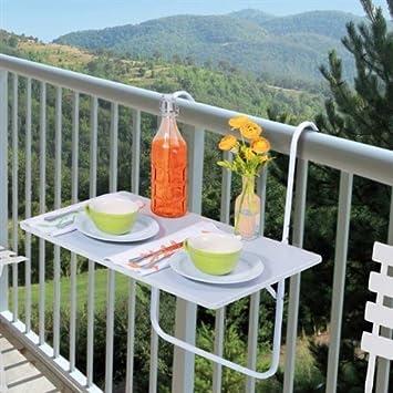 Tavolo pieghevole da ringhiera - per il tuo balcone!: Amazon.it ...