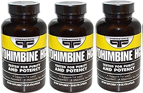 Primaforce YOHIMBINE HCI 2.5 mg - 90 CAPS (3 Pack)