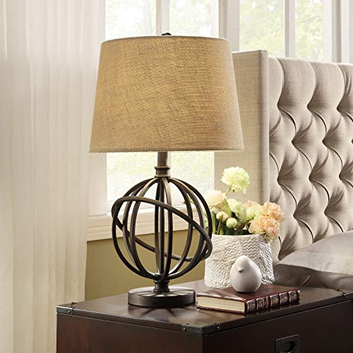 (Contemporary Table Lamp - Cooper Antique Bronze Metal Orbit Globe 1-Light Accent Table Lamp)