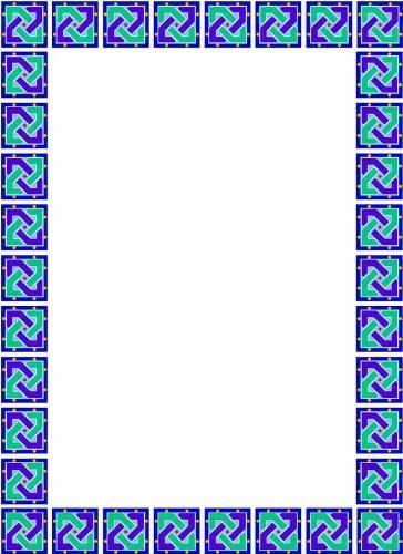画像matting-purple &ブルーblocks-etchedビニールStained Glass Film , Static Clingフォトフレームデカール 03.5 in x 05 in ブルー B005LAS3HQ 03.5 in x 05 in