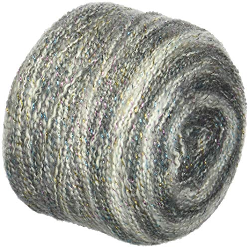 Ball Striped Crochet - Lion Brand Yarn 455-300 Shawl in A Cake- Metallic Yarn, Om Opal
