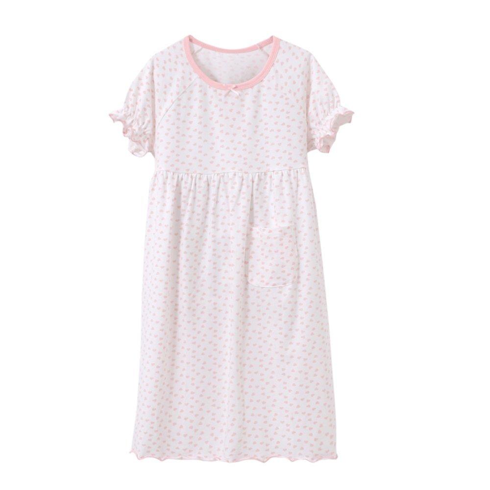 73cec0050e38 Amazon.com  Catalpa Little Girls Cotton Cute Heart Printed Nightgown ...