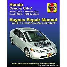 H42026 Haynes Honda Civic 2001-2010 CR-V 2002-2009 Auto Service Repair Manual