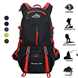 50L Waterproof Backpack Daypack Shoulder Bag for Sport Climbing Mountaineering Fishing Travel Hiking Cycling (50L Balck Backpack) For Sale
