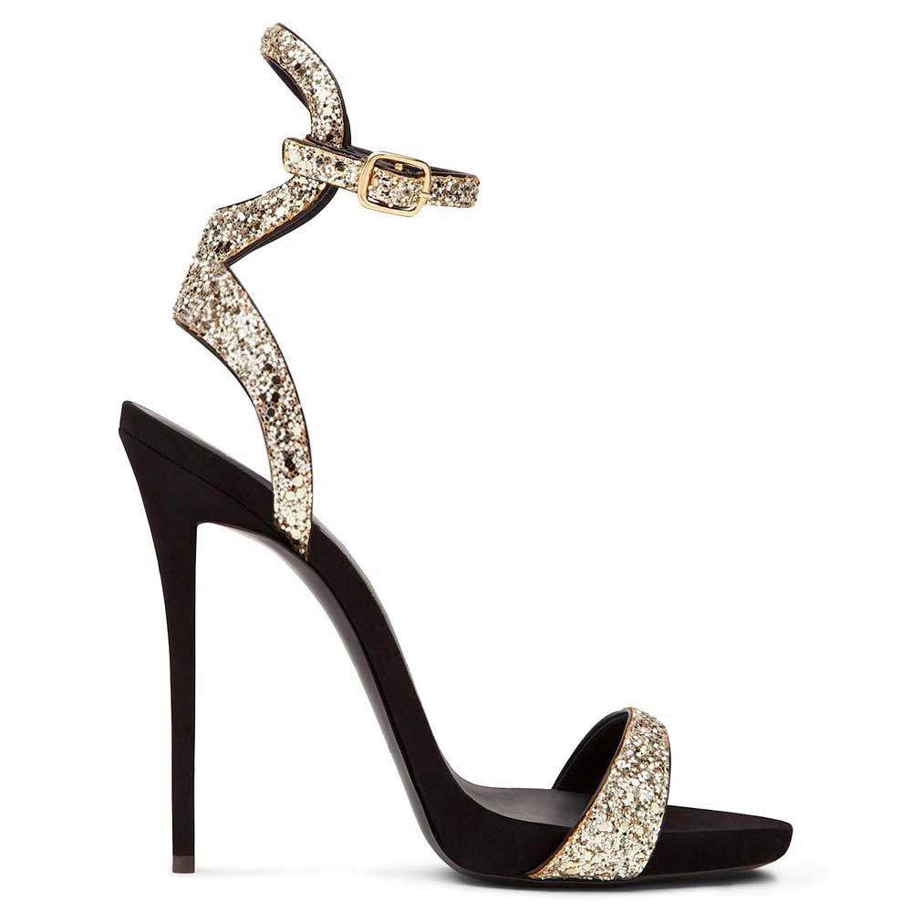 Donyyyy Weibliche Sandalen und Sandaletten Golden 40
