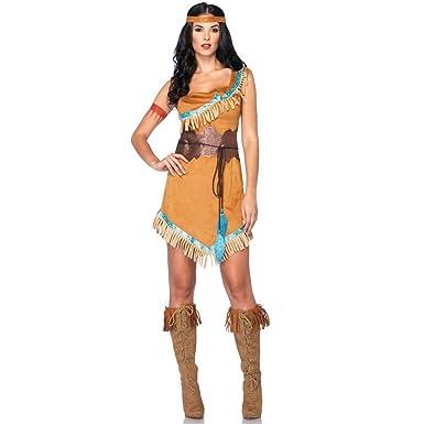 Amazon.com: Pocahontas – Disfraz para adulto Pequeño/Mediano ...